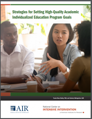 Cover Strategies for Setting High-Quality Academic Individualized Education Program Goals