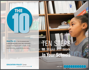 Cover of 10 Steps to Make RTI Work in Schools